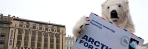 Белого медведя видели утром в центре Петербурга