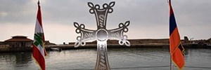 Мемориал жертвам геноцида армян появился у побережья Ливана