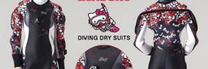 В Японии выпустили ограниченную партию сухих гидрокостюмов в стиле Hello Kitty