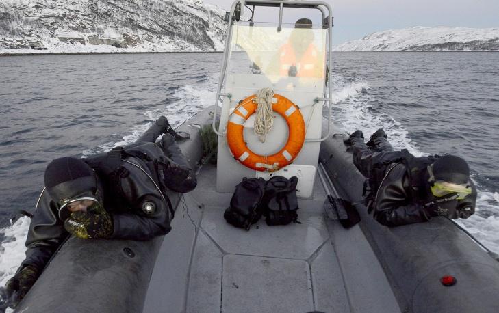 Учения подводного спецназа в Заполярье